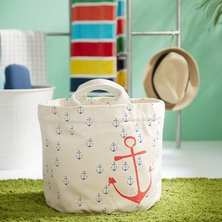 Canada fluf organic cotton portable storage dual-use bag / bag / storage bag / bag - blue anchor