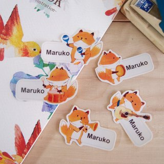 Fox band name stickers