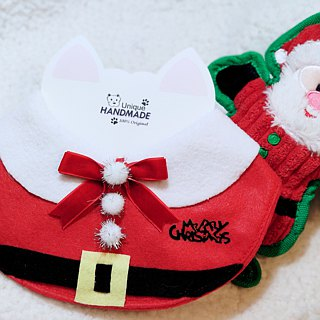 Christmas Christmas Santa Claus Pet Scarf / Necklace