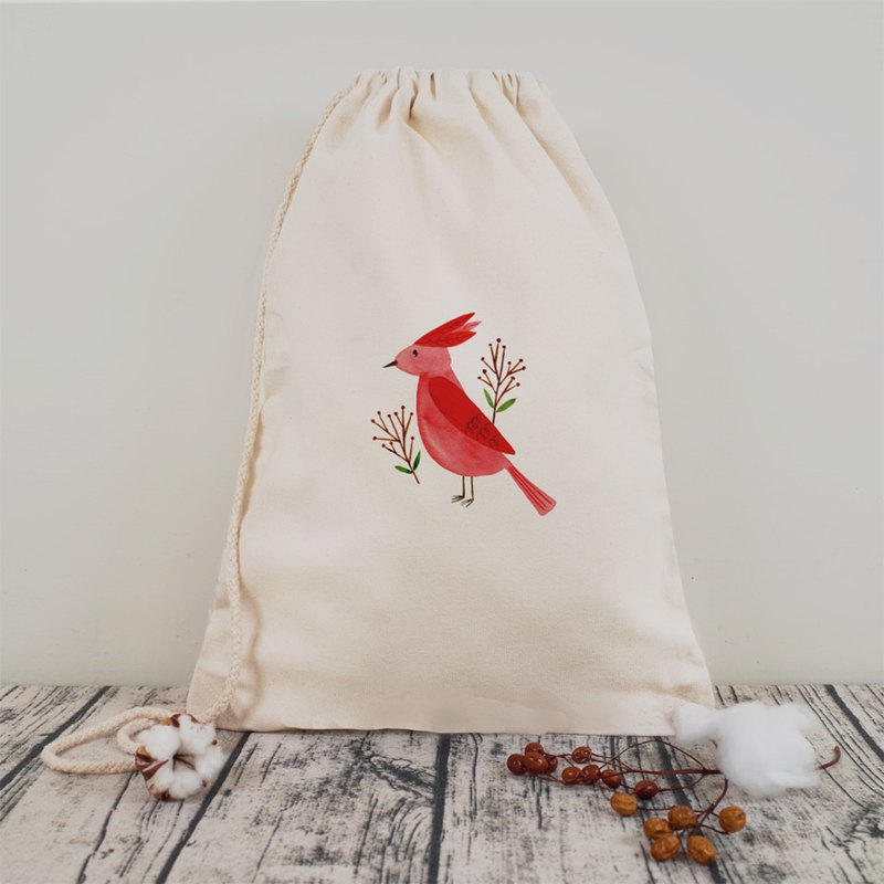[Animal Planet] Red Crown Bird Canvas Sling Bag