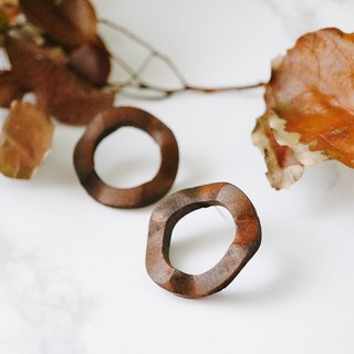 ITS-E120 [wooden earrings] good time - wave