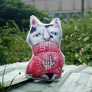 Wandering pillow X sit series * LOVE CAT