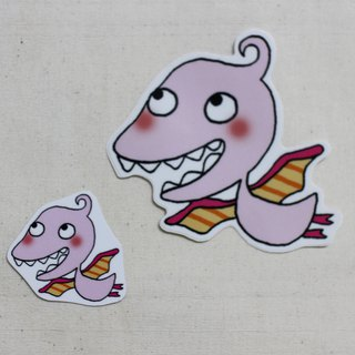 Waterproof sticker (large)_Little Dinosaur 08
