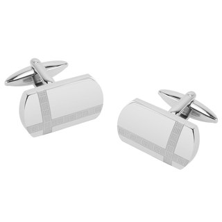 Stainless Steel Cross Pattern Cufflinks