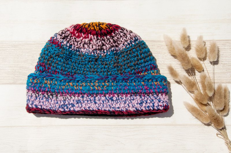 95e0af59edc Woven pure wool cap   knit cap   knitted fur cap   inner brush hair hand