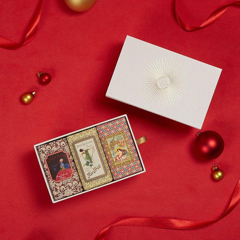 CLAUS PORTO 復古手工蠟封香氛皂禮盒組 玫瑰/紫羅蘭/海霧