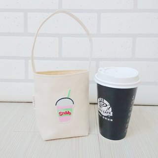 Environmental protection bag beverage coffee bag embroidery drink cup