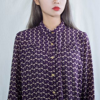 Purple Swan Vintage Long Sleeve Shirt