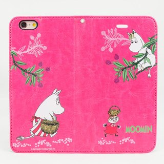 "Moomin Moomin genuine authority - Magnetic phone holster: [pick fruit fun (Rose)} ""iPhone / Samsung / HTC / ASUS / Sony"""