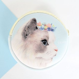 I money white coin hand painted wind - H9. Persian cat cat