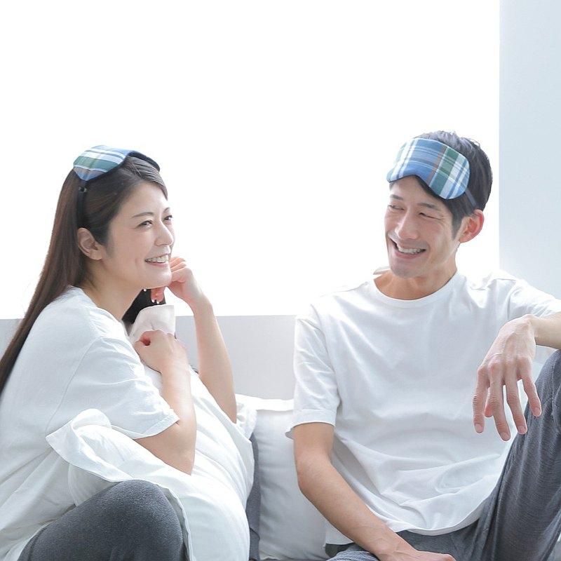 日本眼罩  格紋/ 特別感謝價格/ 優惠2件套 /