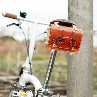 Custom made BROMPTON leather accessories three groups