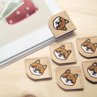 【Dog Year of the Grand Canal】 【Shiba Inu hand-painted Shiba Ken leather bookmark