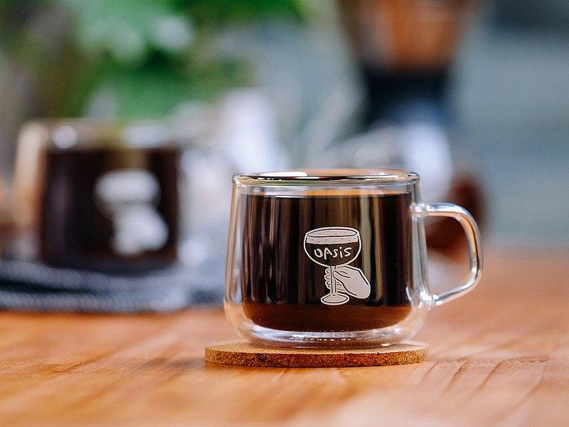WHOSMiNG × GOODGLAS - OASIS COFFEE ROASTERS 雙層玻璃杯180ml