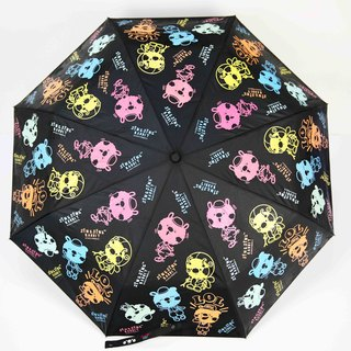 Sing Sing In The Rain Rabbit Water Change Color Auto Switch Umbrella