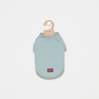 [Tail and me] pet clothes side open collar shirt blue gray
