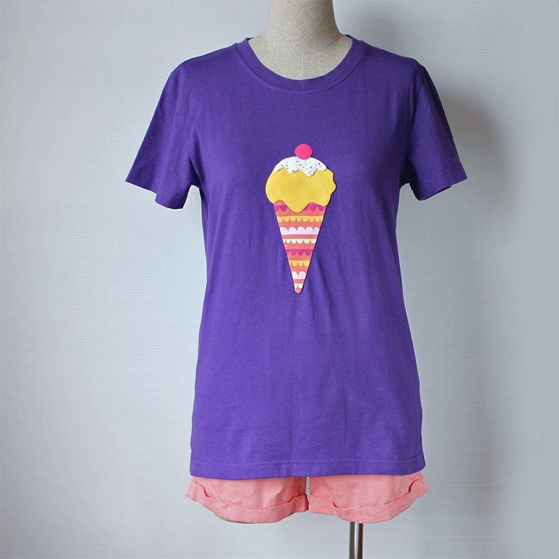 芒果冰淇淋微長版短袖T-shirt