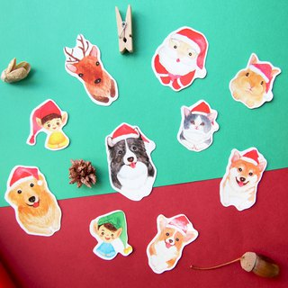 Christmas Animal Stickers Set