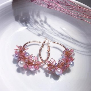 Angel's Flower Basket Ear Pin [Pink Star]