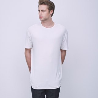 Stone@S Basic T-shirt (LONG) In White / 加長 長版 白 Tee T-shirt