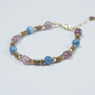 -- la-joie -- Fuladuo Blueberry Powder + Strawberries + Aquamarine /// Natural Stone x Bracelets ///
