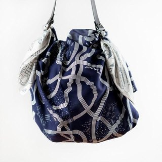 The Hida Express Furoshiki & Black Leather Strap Set