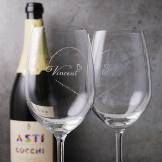 (a pair of prices) 425cc [marriage gift blessing to the cup] have you complete the heart-shaped wedding red wine glass
