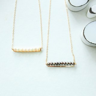 14 kgf ♡ AAApearl line bar necklace