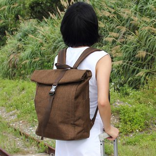 Candice Backpack(Height adjustable)(15.6'' Laptop OK)- Brown_100453-10