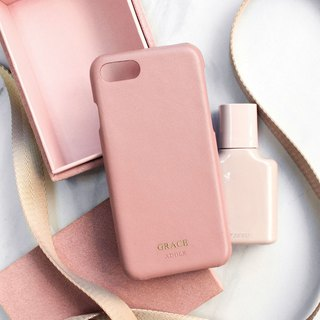 Can be lettering iPhone 7/8 4.7 吋 leather water-proof mobile phone case - smoked powder