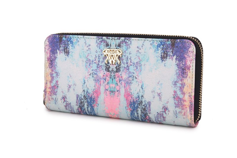 S8O painting style zipper wallet guardian Ocean series blue ice