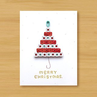 Handmade Roll Paper Card_ Merry Christmas Greetings_MERRY CHRISTMAS_B