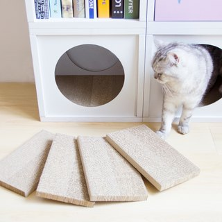 [Ange home] mini cat scratch board (4 pieces) - can replace the peekaboo cabinet inside the grab board