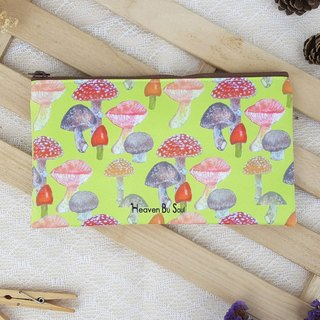 Green grass mushroom forest storage bag pen bag bag