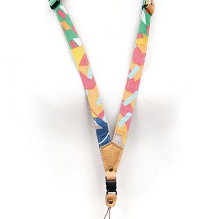 Phone strap neck hanging - geometric wave