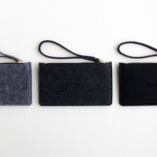 Le Yang - wool felt / mobile phone storage bag - deep gray (big / 5.5 mobile phone / iPhone6 ​​/ 7Plus)