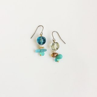 Fantasy world of flower glass beaded earrings