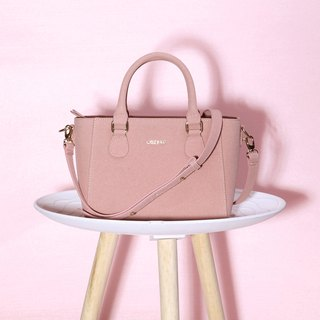 Lovely Ladies Design Petite Pink Suedette Synthetic Leather Women Handbag