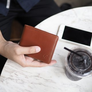 Men purse (Mocha) : Wallet, Short wallet, Brown wallet