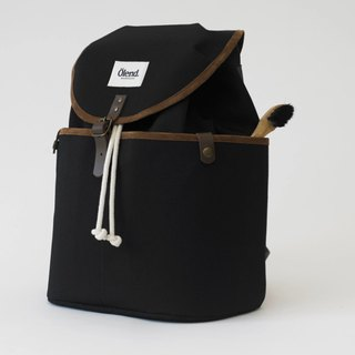 |Spanish handmade | Ölend Ringo canvas backpack / computer bag (Black Black)