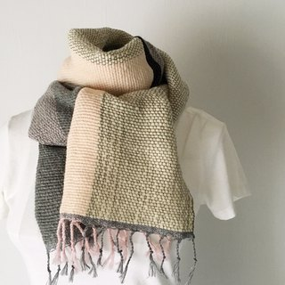 "Unisex hand-woven scarf ""Gray & Pink Mix"""