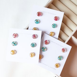 Eternal Flower Series - Round Floral 6 Piece Earrings