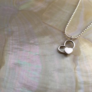 Custom Knock Clavicle Practice in 925 Sterling Silver _ Hearts and Hearts -17NS001_