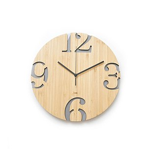 LOO Big Numbers Wall Clock Gray