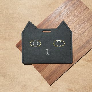 Halloween black cat ticket holder