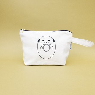 Oops ... Bald Embroidery Cosmetic Bag