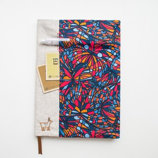 Jewel Liberty Print - adjustable A5 bookcover