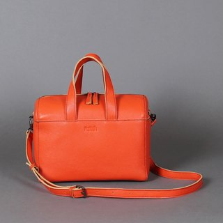 Passion Boston bag orange hand / shoulder / hatchback