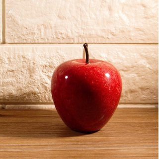 [Colorful fruit series] table home furnishings. Red apple | natural stone