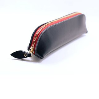 Limited time offer lettering leather leather pencil case storage bag clutch bag birthday gift school gift pen pencil
